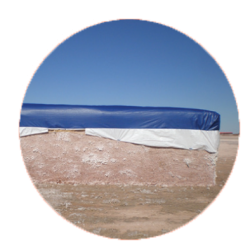 blue cotton tarp module covers