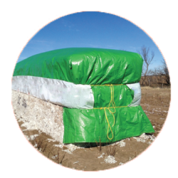 green cotton tarp module cover