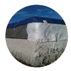 blue cotton bale tarp cover with mesh
